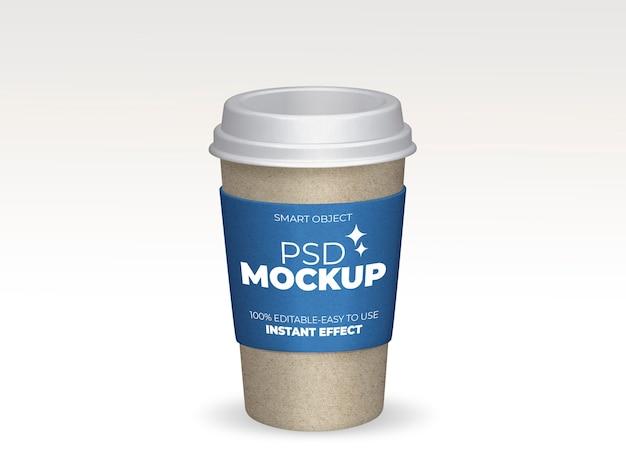 Haal het mockup van de koffiekop weg Gratis Psd