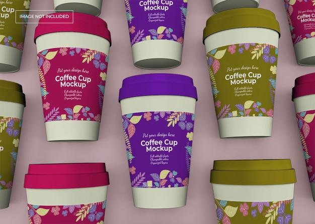 Haal het mockup van de koffiekop weg Premium Psd