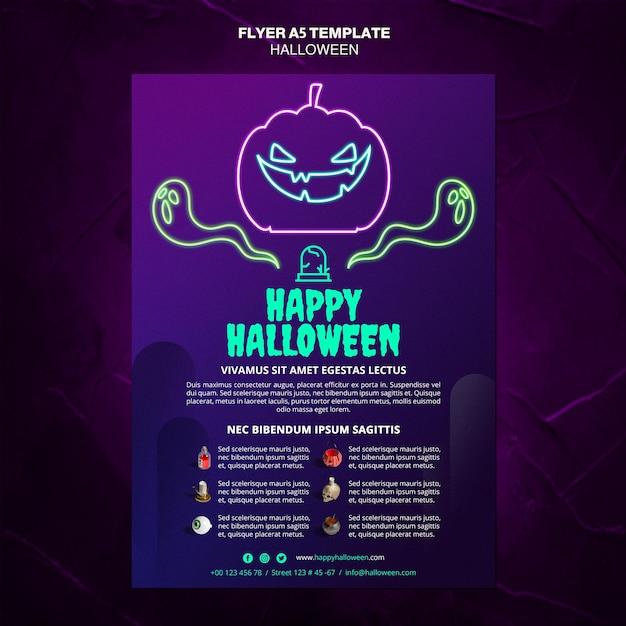 Halloween evenement folder sjabloon Gratis Psd