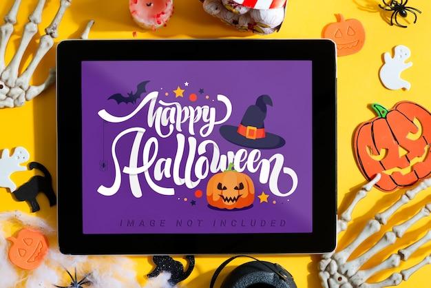 Halloween-filmvertoning thuis met tabletmodel Premium Psd