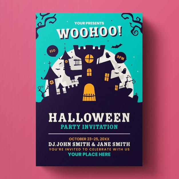 Halloween flyer-sjabloon Premium Psd