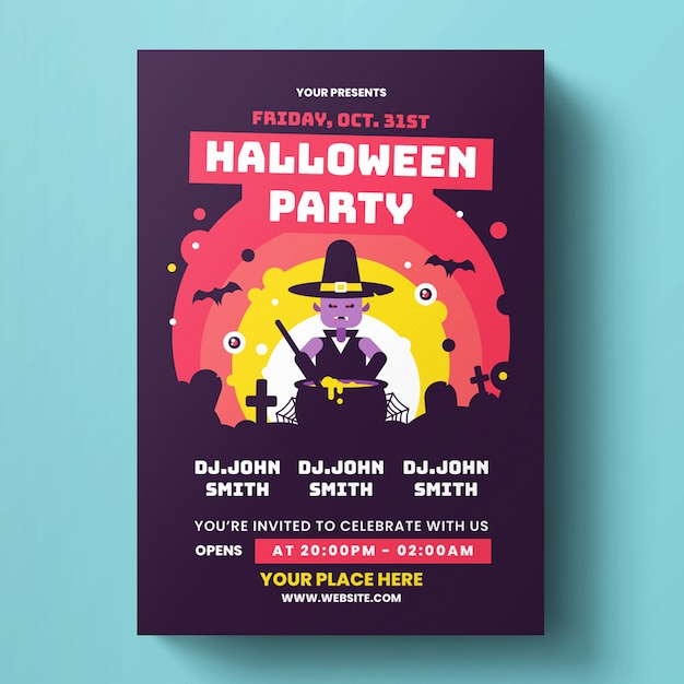 Halloween flyer-sjabloon Premium Psd