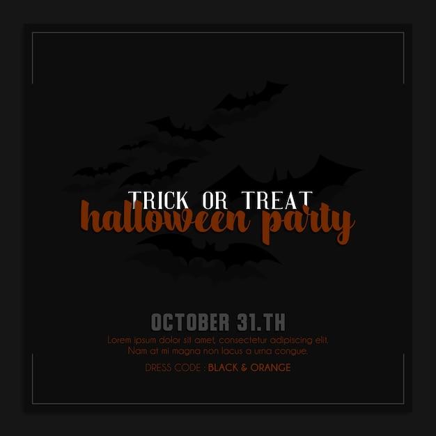 Halloween instagram instagram post of sjabloon voor spandoek Premium Psd