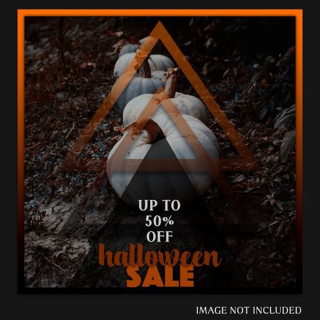 Halloween instagram post of sjabloon voor spandoek Premium Psd