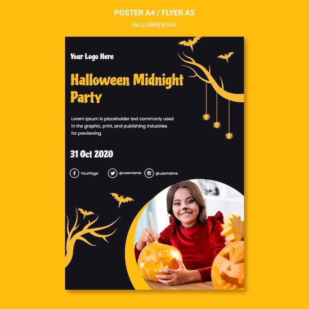 Halloween party folder sjabloon Gratis Psd