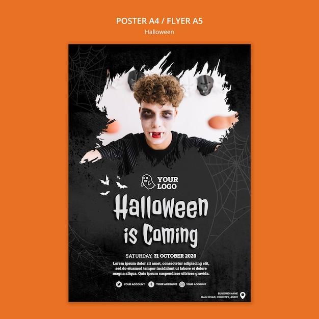 Halloween party poster sjabloon Gratis Psd