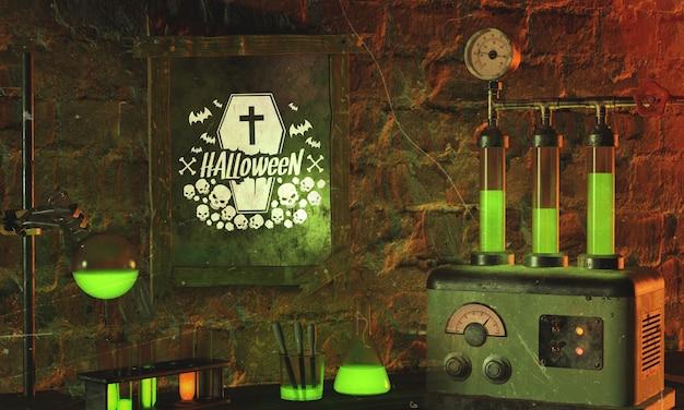 Halloween-regeling met groen licht Gratis Psd