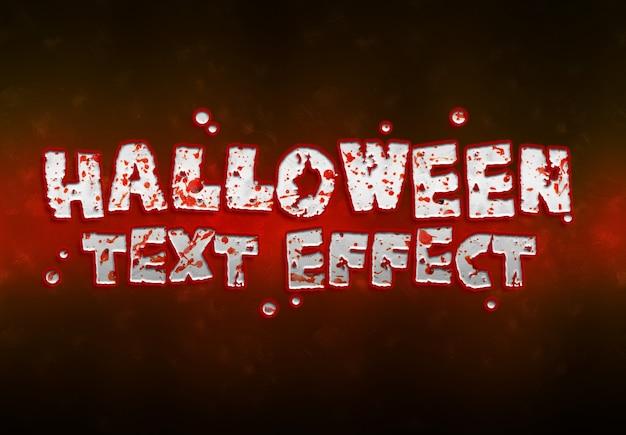 Halloween-teksteffect mockup Premium Psd