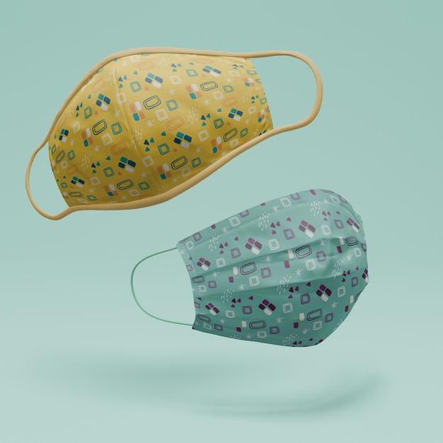 Handgemaakte gezichtsmaskers met mock-up concept Gratis Psd