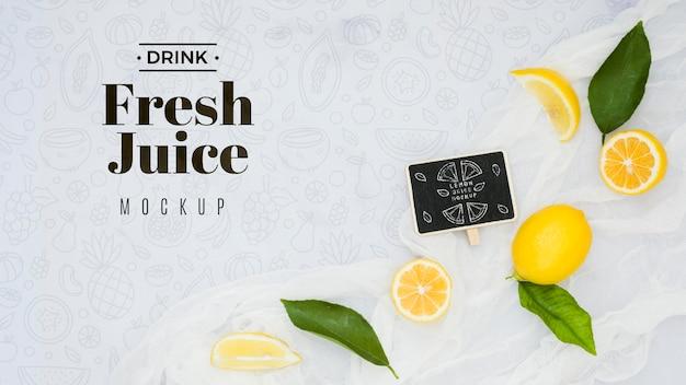 Heerlijk fruit concept mock-up Gratis Psd