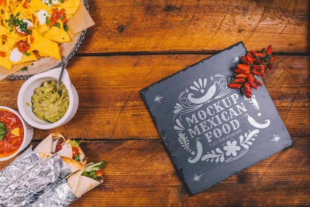 Heerlijk mexicaans eten concept mock-up Gratis Psd