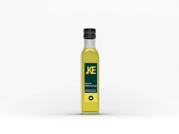 Helderglazen olijfolieflesmodel Premium Psd