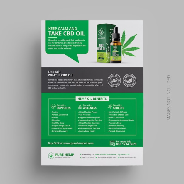 Hennep product flyer template design Premium Psd