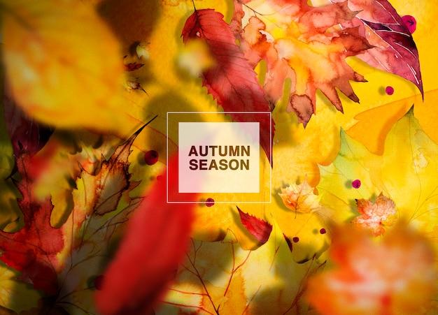 Herfst seizoen achtergrond Premium Psd