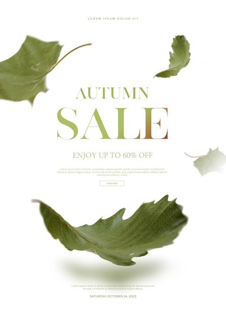 Herfst verkoop banner Premium Psd