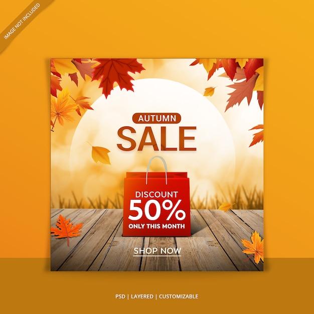 Herfst verkoop webbanner Premium Psd