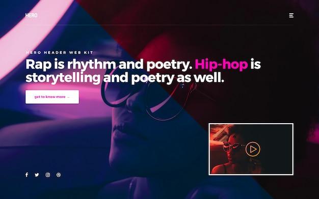 Hero-header hiphop Premium Psd