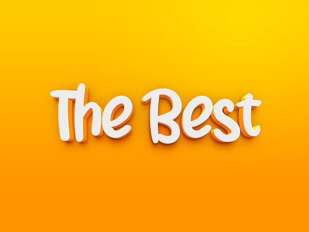 Het beste 3d-tekststijleffect Premium Psd