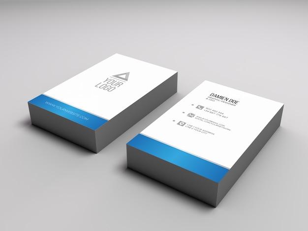 Het elegante realistische model van de visitekaartjesstapel Gratis Psd