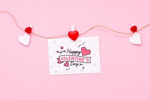Het gelukkige model van het de dagconcept van de valentijnskaart Gratis Psd