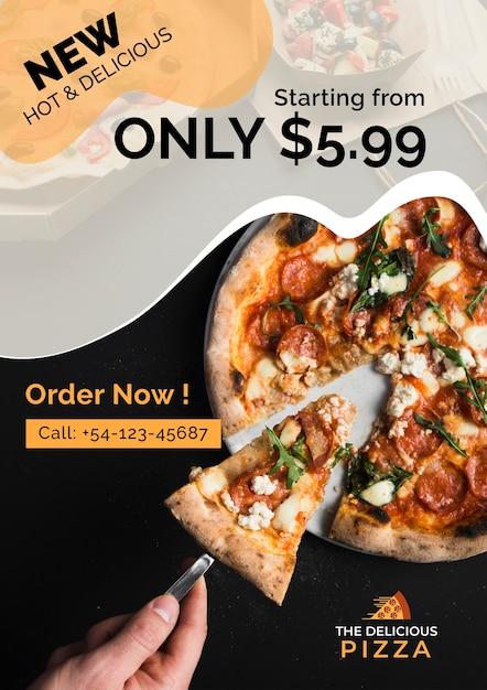 Het heerlijke nieuwe pizza-aanbod Gratis Psd