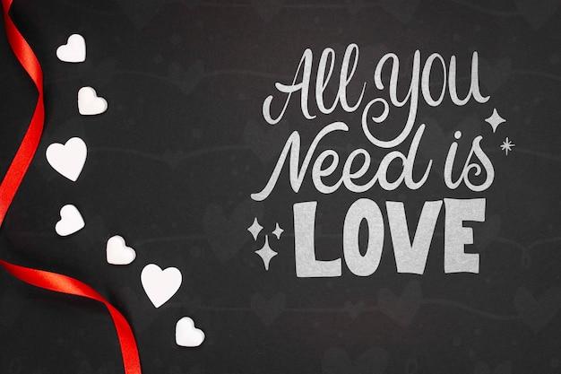 Het model van het de dagconcept van de mooie gelukkige valentijnskaart Gratis Psd