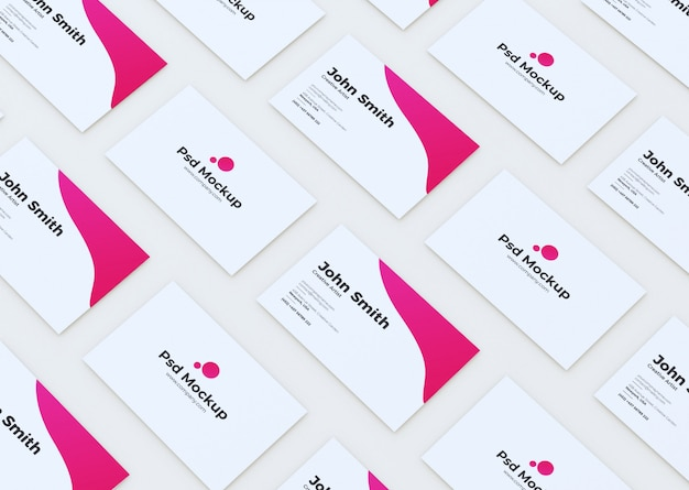 Het moderne klantgerichte model van het visitekaartje Premium Psd