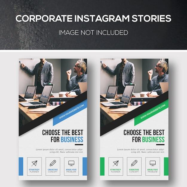 Historias corporativas de instagram PSD Premium