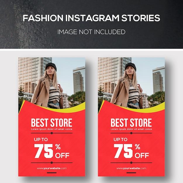 Historias de moda de instagram PSD Premium