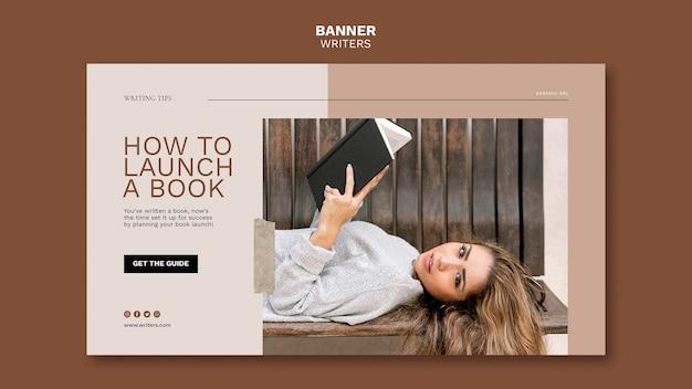 Hoe een sjabloon voor een boekbanner te starten Gratis Psd