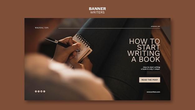 Hoe u begint met het schrijven van een sjabloon voor een boekbanner Gratis Psd