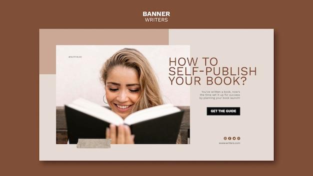 Hoe u zelf uw boekbannersjabloon publiceert Gratis Psd
