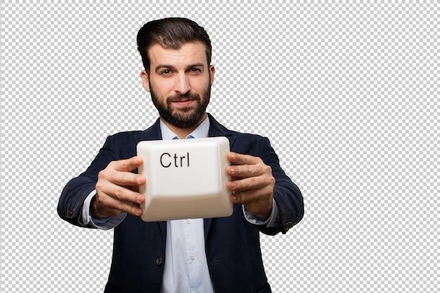 Hogere mooie vrouw met een chronometer Premium Psd