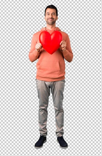 En Gran Una Corazón Un Hombre Con Sudadera Icono Juguete De Rosa ASqYAdwnF