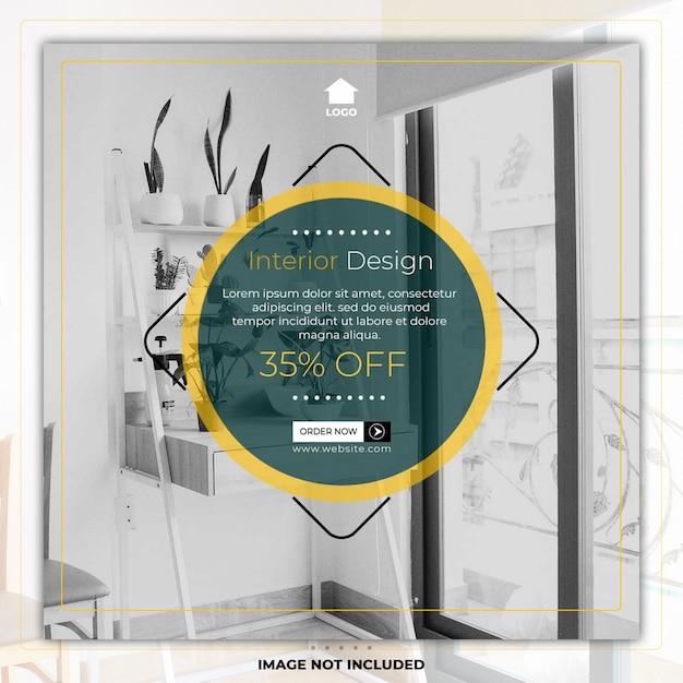 Home meubelen interieur social media post sjabloon banner Premium Psd