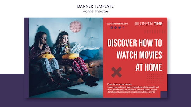 Home theater horizontale banner Gratis Psd