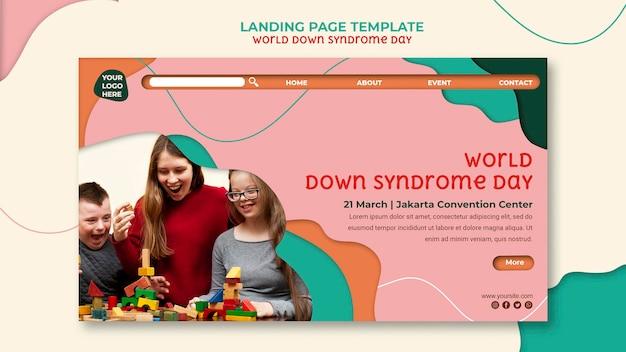 Homepage van de wereld down-syndroomdag Gratis Psd