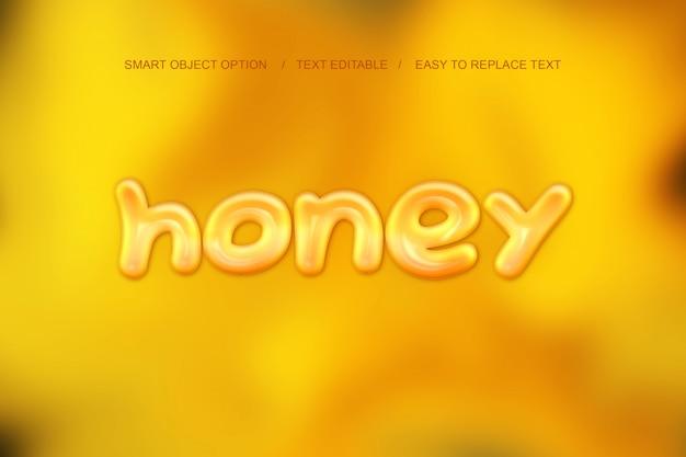 Honey text effect Psd Premium