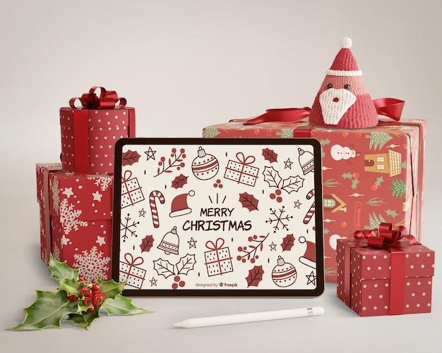 Horario de invierno con tema navideño PSD gratuito