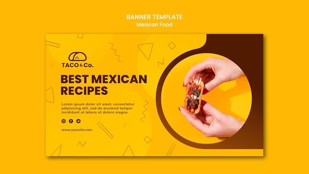 Horizontale banner voor mexicaans eten restaurant Gratis Psd