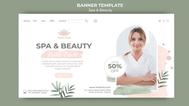 Horizontale banner voor spa en ontspanning Gratis Psd