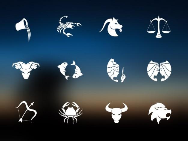 Horoscoop pictogrammen template psd Gratis Psd