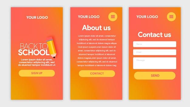 Hot template app back to school met potlood Premium Psd