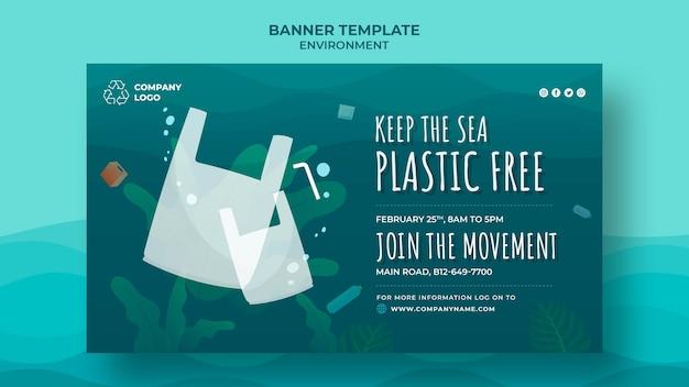 Houd de zee plastic gratis banner Gratis Psd