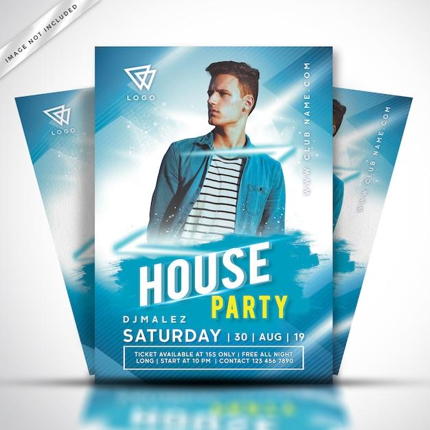 House muziek dj party flyer of poster sjabloon Premium Psd