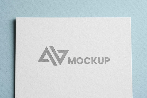 Huisstijl mock-up logo bovenaanzicht Gratis Psd