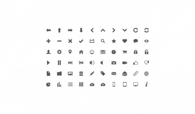 Icon set lignt icon set ui pictogram Gratis Psd