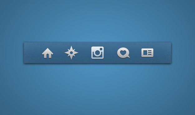 Icon set pictogrammen instagram Gratis Psd