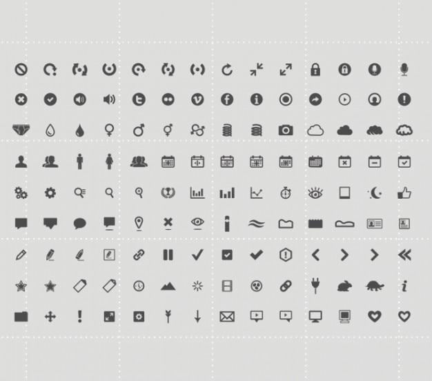 Icon set pictogrammen psd psd icon set Gratis Psd