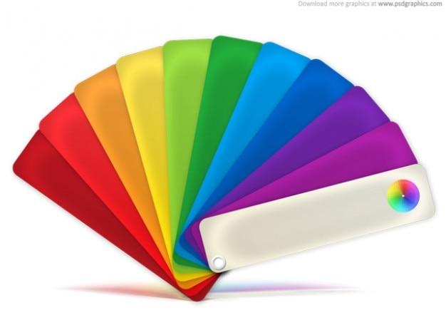 Icono de la paleta de colores (PSD) Psd Gratis